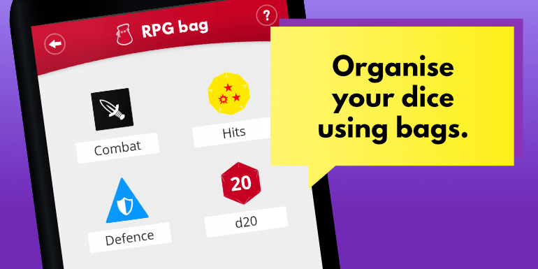Organise your dice with bags